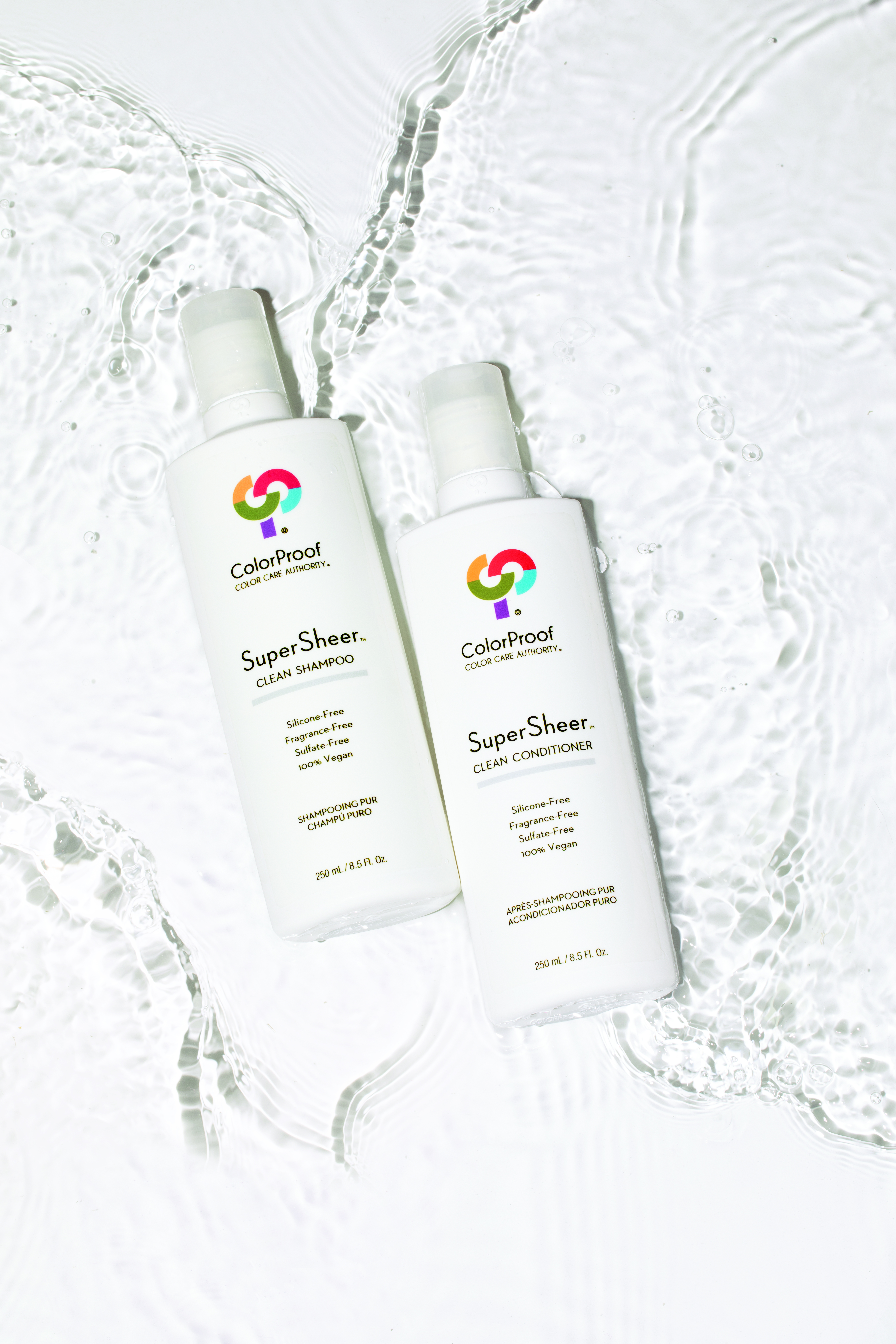 ColorProof's new SuperSheer formulas are free of all the additives modern clients are eager to avoid, including silicone, sulfate, fragrance, paraben, paba, mineral oil, coal tar, keratin and formaldehyde. And the packaging is 100 percent recyclable.  -