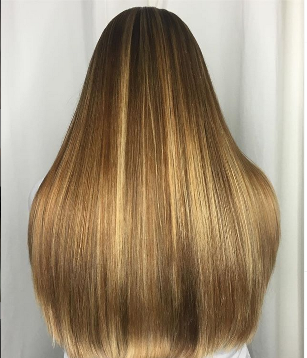 <p><strong>Teri Dougherty achieved natural, sun-streaked hair color by highlighting with staggered slices&mdash;inch, quarter inch, inch-and-a-half, etc. to approximate a natural lightening pattern. She toned with Aloxxi InstaBoost Conditioning Color Masques&mdash;three parts Golden Heiress and one part Strictly Platinum&mdash;to maintain balanced warmth.&nbsp; @teridougherty</strong></p>
