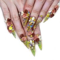 NTNA S. 7 Pre-Challenge 2: Duck and Rose Nail Art (Adrianna)
