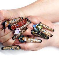 NTNA S. 7 Pre-Challenge 2: Egyptian Bastet Nail Art (Becca)