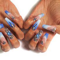 NTNA S. 7 Pre-Challenge 2: Blue Sky Nail Art (Bojana)