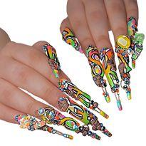 NTNA S. 7 Pre-Challenge 2: Bright Graffiti Nail Art (Helen)