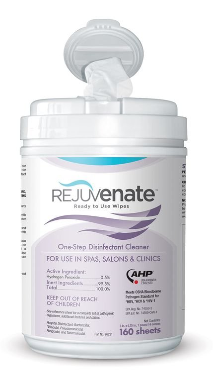 <p>Rejuvenate&nbsp;Disinfectant Cleaner Wipes<br />