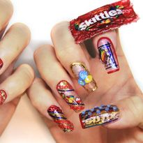 NTNA S. 7 Pre-Challenge 2: Upcycled Skittles Nail Art (Trina)