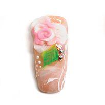 Nail Art Studio: Pink Smoke Floral