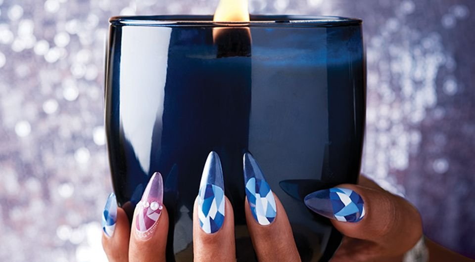 Behind the Scenes: Abstract Winter Nail Art