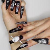 OPI NTNA Challenge 1: Black Onyx Nail Art (Dana Cecil)