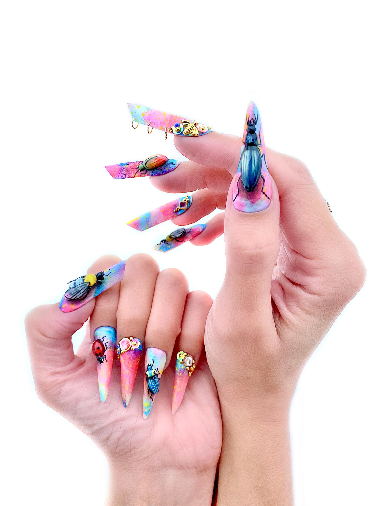 OPI NTNA Challenge 3: Colorful Insect Nail Art (Deanna)
