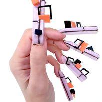 OPI NTNA Challenge 4: Avant-Garde Geometric Nail Art (Deanna)
