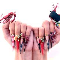 OPI NTNA Challenge 1: Cajun Shrimp Nail Art (Deanna Stelmaschuk)