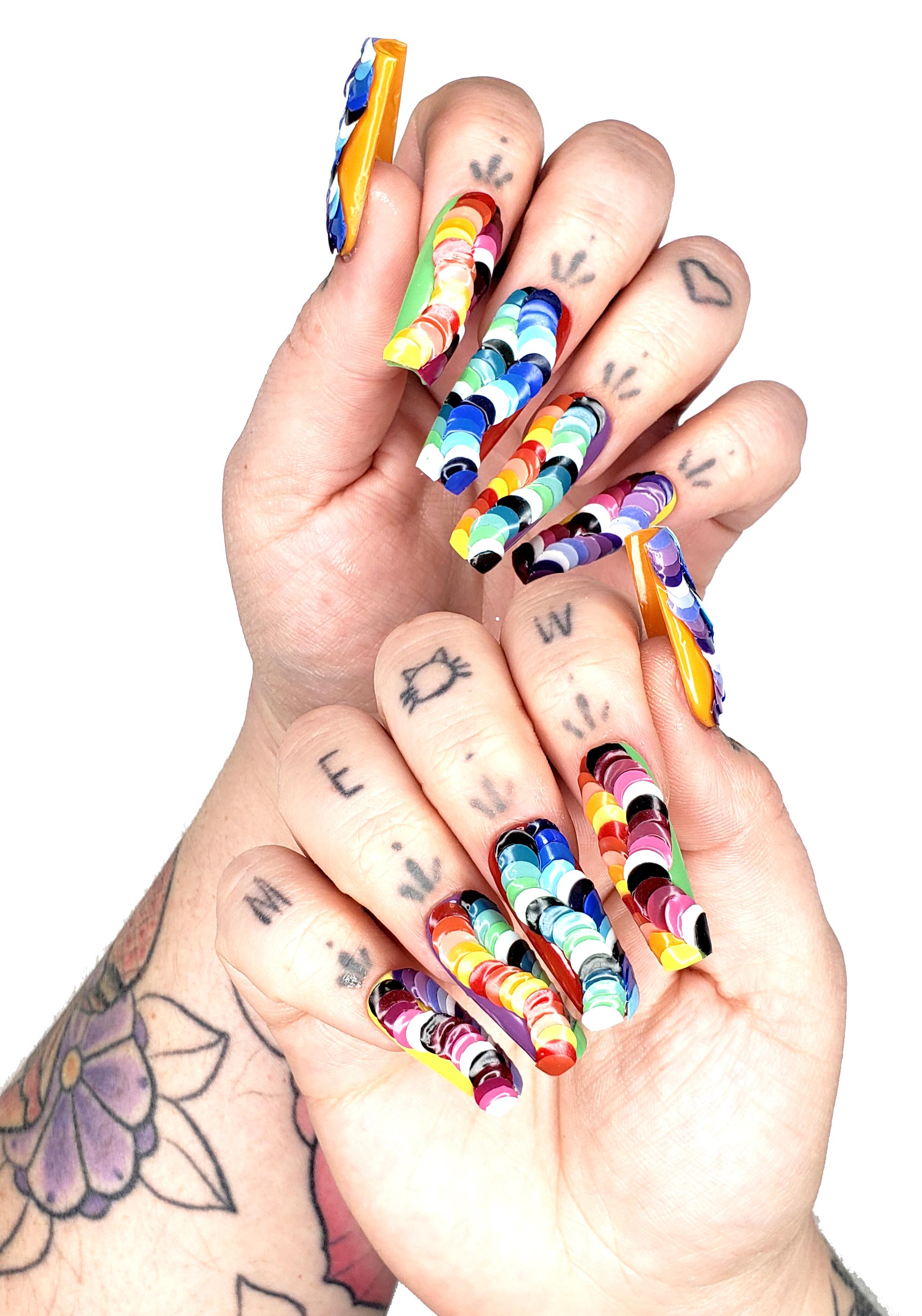 OPI NTNA Challenge 3: Rainbow Dotticure Nail Art (Emily)