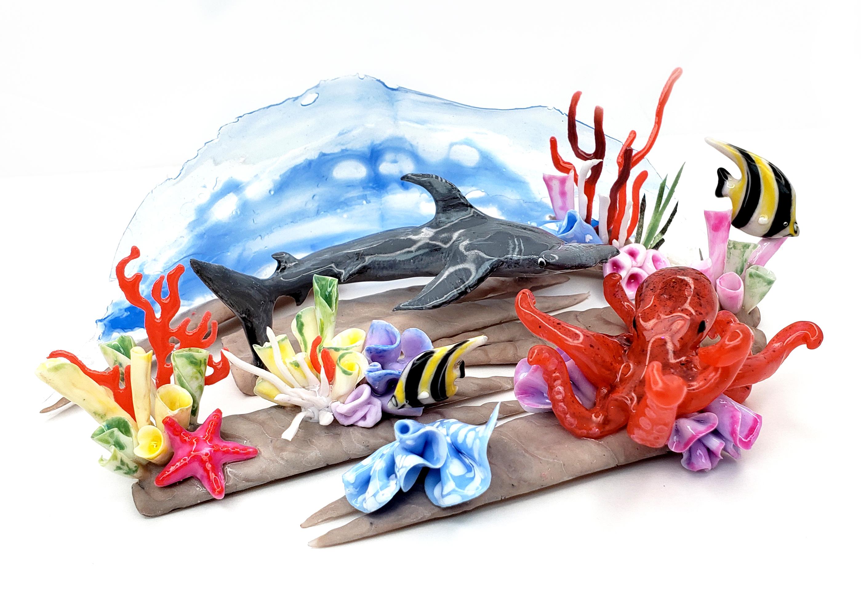 OPI NTNA Challenge 2: Great Barrier Reef Nail Art (Emily)