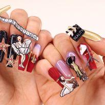 OPI NTNA Challenge 1: My Address is Hollywood Nail Art (Julie Ventura)