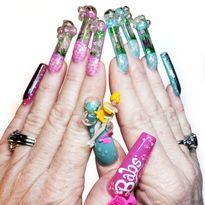 OPI NTNA Challenge 1: Bubble Bath Nail Art (Lisa Bennett)