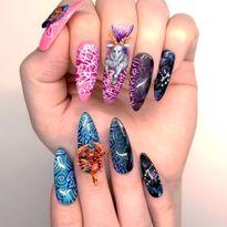 NTNA S. 7 Challenge 2: Ombre Zodiac Nail Art (Becca)