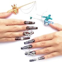 NTNA S. 7 Challenge 2: King and Queen of the Zodiac Nail Art (Bojana)
