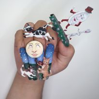 NTNA S. 7 Challenge 5: Hey Diddle Diddle Nail Art (Ally)
