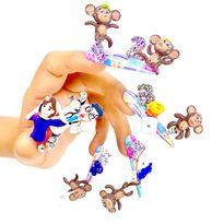 NTNA S. 7 Challenge 5: Five Little Monkeys Nail Art (Giselle)
