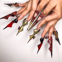 NTNA S. 7 Challenge 6: Mother Monster Nail Art (Kelsey)