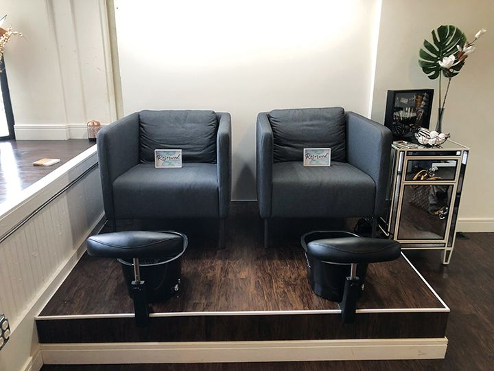 <p>Artwork in any medium is offered at Nail Junkie, as well as pedicure services. Some of Dana&rsquo;s NTNA entries are in a shadowbox next to the pedicure area.</p>