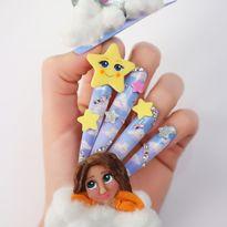 NTNA S. 7 Challenge 5: Twinkle Twinkle Little Star Nail Art (Stella)