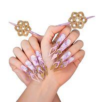NTNA S.7 Challenge 10: Avant-Garde Marble Nail Art (Stella)