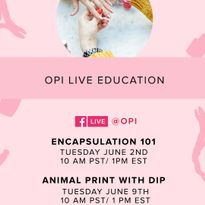 OPI Announces Live Education for June