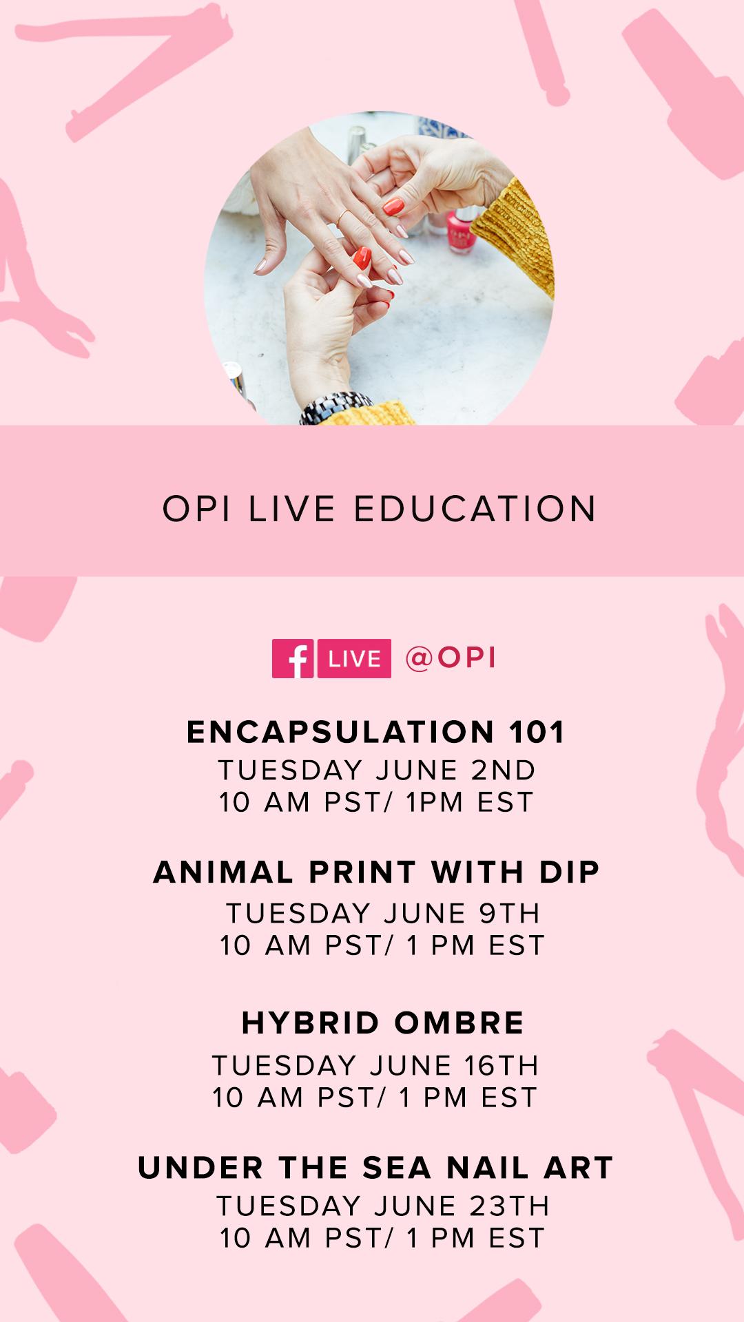 OPI Announces Live Education for June