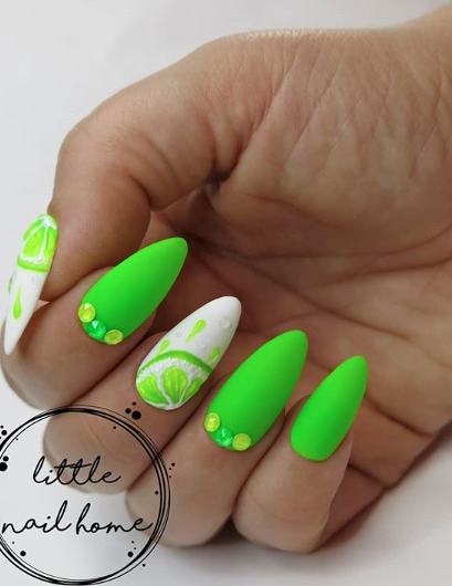 Citrus Nail Art For Summer