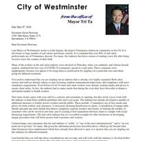 Westminster Mayor Tri Ta Responds to Governor Newsom's Nail Salon Claims