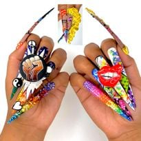Five Nail Designs by NTNA Finalist Giselle Caballero