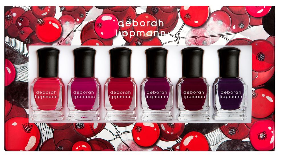 <p><em>Very Berry polish collection</em></p>