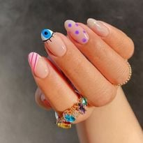 TRENDING: Evil Eye Nail Art for Protection at Your Fingertips
