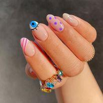 TRENDING: Evil Eye Nail Art for Protection at Your Fingertips