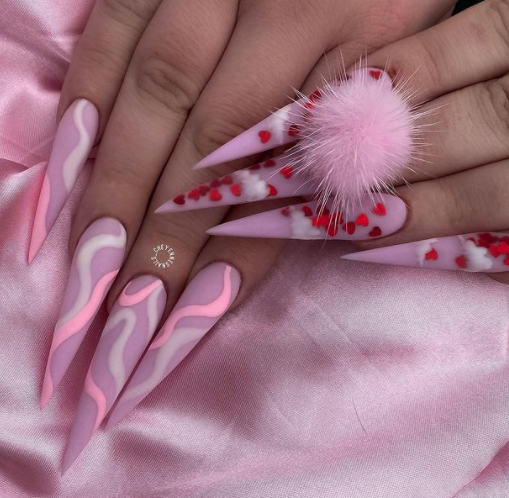 11 Pink & Red Valentine's Day Nail Art Ideas
