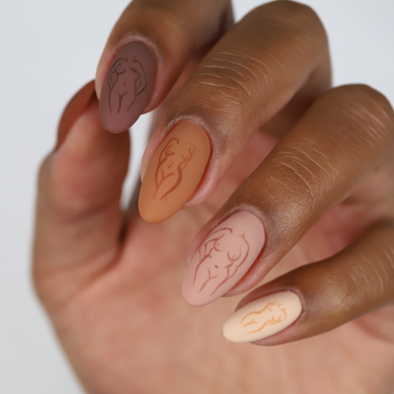 <p>TGB Nail Expert @sadiejnails shows off some nail art featuring the Nu Nudes Collection.</p>