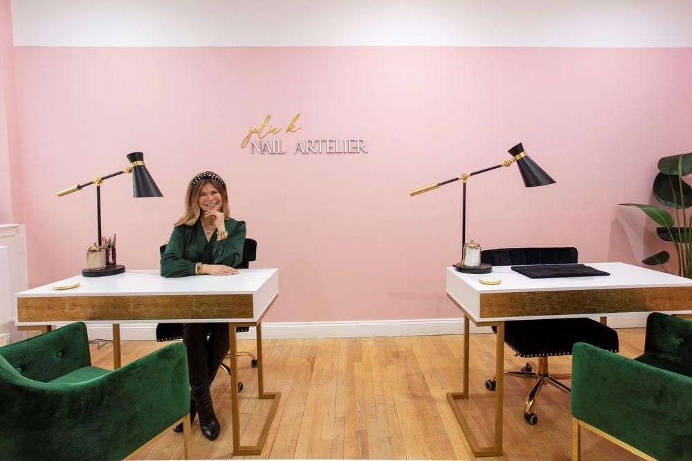 <p><em>Manicurist Julie Kandalec at her new space, Julie K Nail Artelier in NYC</em></p>