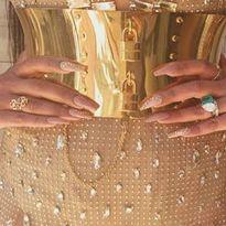 Get the Look: Priyanka Chopra's Embellished Golden Manicure