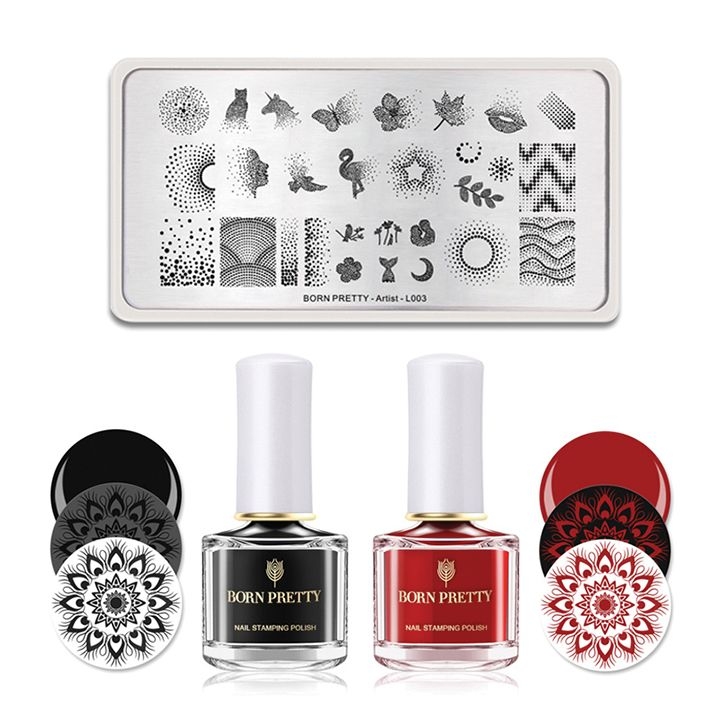 """<p>Born Pretty Stamping Kit</p>  <p><a href=""""http://www.bornprettystore.com"""">www.bornprettystore.com</a></p>"""