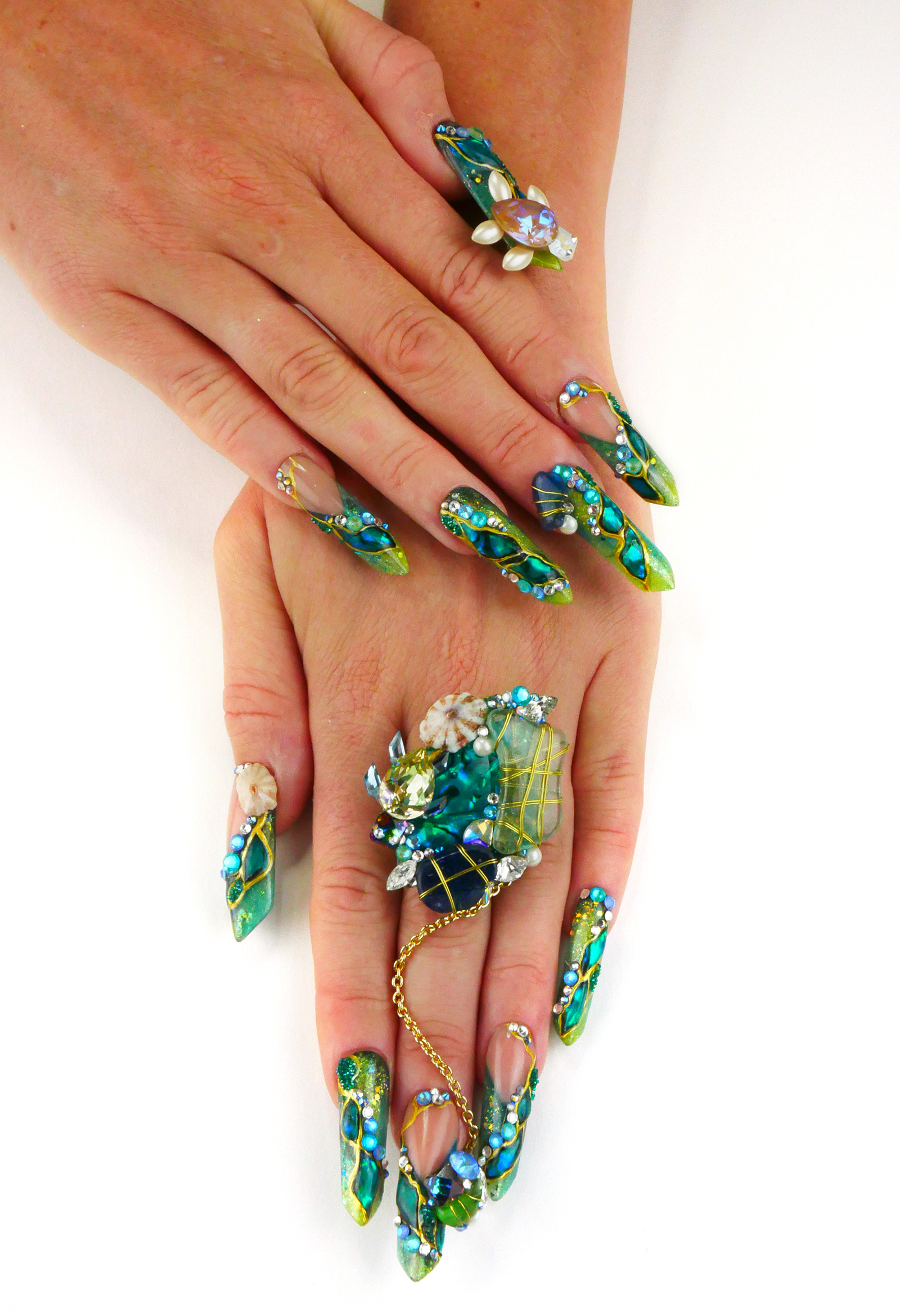 NTNA S. 7 Pre-Challenge 2: Ascension Island Nail Art (Carrie-Leigh)