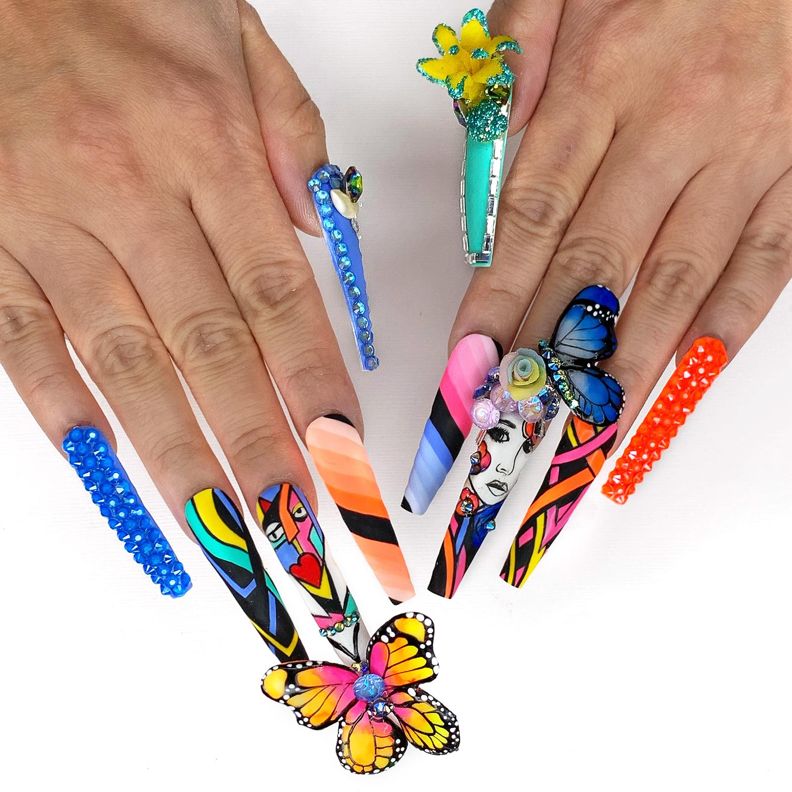 NTNA S. 7 Pre-Challenge 2: Butterfly Nail Art (Honey)