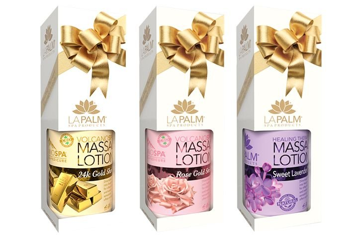 """<p>La Palm Spa Products Healing Therapy Massage Lotions</p>  <p><a href=""""http://www.lapalmproducts.com"""">www.lapalmproducts.com</a></p>"""