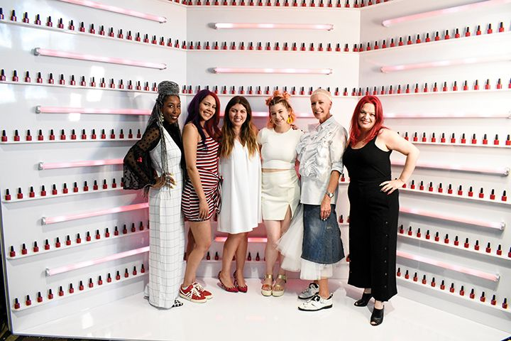 Lavette and the Season 6 finalists, along with CND's Jan Arnold and Season 5 champion, Valerie Ducharme (far right).   -