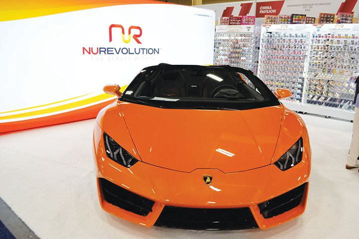 <p>NuRevolution gave away this Lamborghini to their distributer of the year.</p>