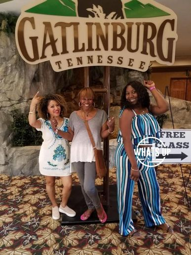 Instructor Mona Poole (center) with students  Nina Boatner and Jasmine Mckinzy Tripp.  -