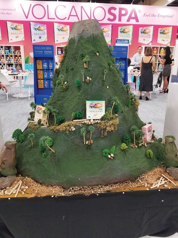 <p>Volcano Spa celebrated the brand with a model volcano.</p>