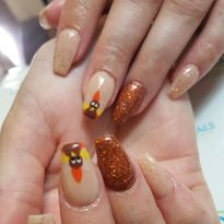 Day 306: Thanksgiving and Snowflake Nail Art