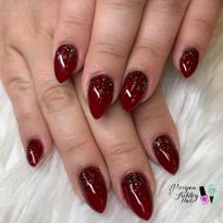 Day 309: Red Glitter Fade Nail Art