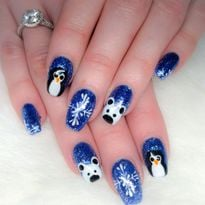 Day 307: Penguin and Polar Bear Nail Art