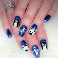 Day 307: Penguin and Polar Bear Nail Art